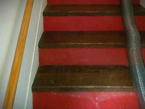 Clean And Remove The Dust Of Old Looking Stairs